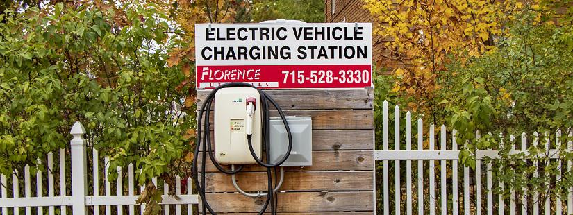 Florence Utilities electric vehicle charging station